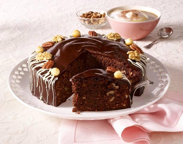 Schokoladen-Nuss-Kuchen Rezept