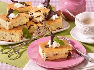 Schokoladen-Pfefferminz-Blechkuchen Rezept