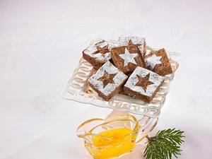 Schokoladenkuchen mit Orangensoße Rezept