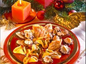 Schokoladenplätzchen mit Weihnachtsbaiser Rezept