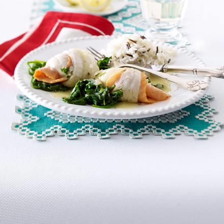 Schollen-Lachs-Röllchen Rezept