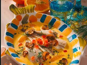 Schollenfilets in Orangen- Safran-Soße Rezept