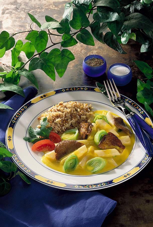 Schwarzwurzel-Austernpilzgemüse in Currysoße Rezept