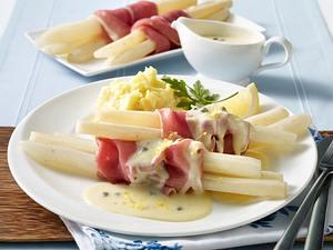 Schwarzwurzeln in Zitronensoße mit Schinken und Kartoffelpüree Rezept