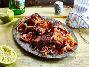Schweinebauch mit Soja-Honig-Marinade Rezept