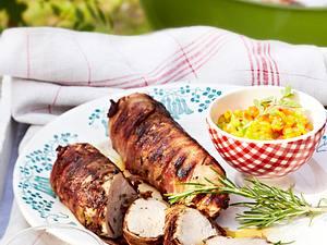 Schweinefilet im Speckmantel mit Paprika-Salsa Rezept