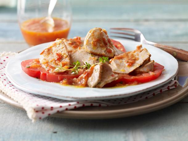Schweinefilet mit frischer Tomatensoße Rezept