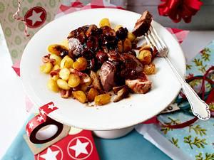 Schweinefilet mit Portweinpilzen und Gnocchi Rezept