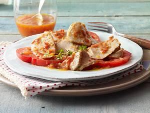 Schweinefilet mit Tomaten-Balsamico-Thymiansoße Rezept