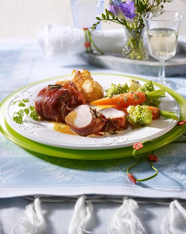 Schweinefilet-Päckchen mit Parmaschinken Rezept
