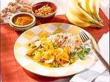 Schweinegeschnetzeltes in Curry-Soße mit Erdnuss-Reis Rezept
