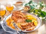 Schweinekrustenbraten mit Ananas-Sauerkraut Rezept