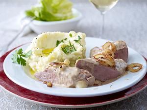 Schweinelendchen mit Kartoffelpüree Rezept