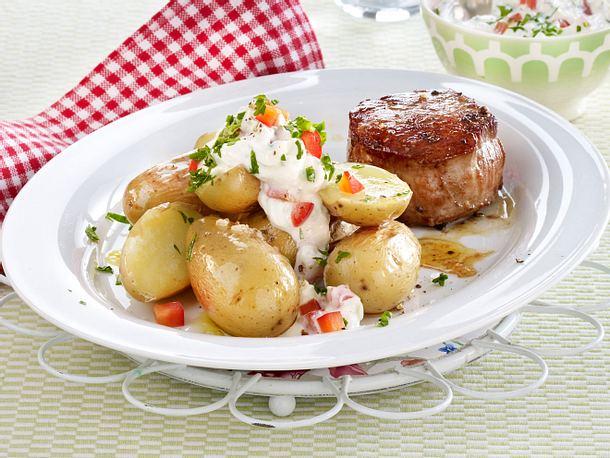 Schweinemedaillons mit neuen Kartoffeln Rezept