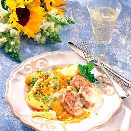 Schweinemedaillons mit Zitronen-Sahnesoße Rezept