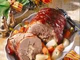Schweinerollbraten mit Kräuterfüllung Rezept