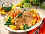 Schweineschmorbraten mit Bouillon-Gemüse Rezept
