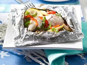 Seeteufel und Gemüse aus dem Alupäckchen Rezept