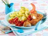 Selbst gemachte Fischstäbchen mit Tomatensalsa Rezept