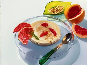 Sellerie-Cremesuppe mit Grapefruit Rezept
