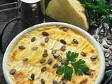 Sellerie-Steckrüben-Kartoffelgratin Rezept