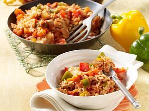 Serbisches Reisfleisch mit bunter Paprika Rezept
