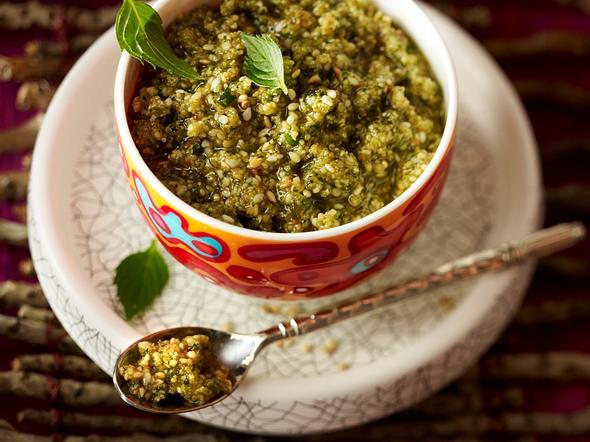Sesam-Minz-Pesto Rezept