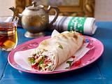 Shawarma mit Pute und Salat Rezept