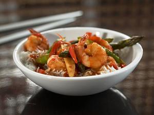 Shrimps-Gemüse aus dem Wok Rezept