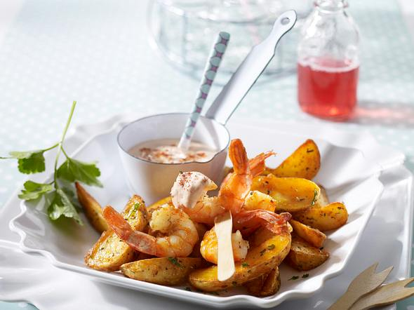 Shrimps & Chips Rezept