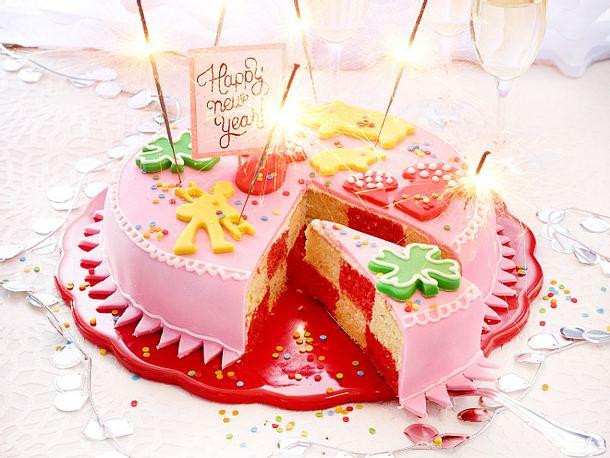 Silvester-Glücks-Kuchen Rezept