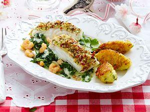 Skrei mit Schlemmer-Parmesanbröselkruste & Kartoffelnocken Rezept