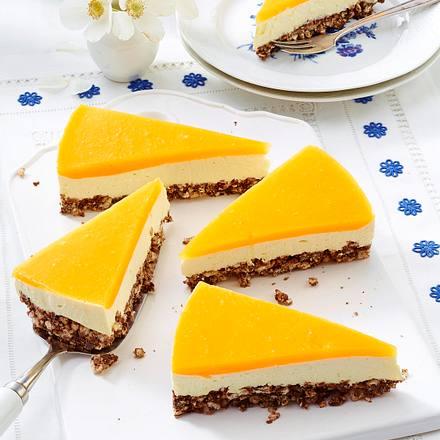 smoothie k sekuchen mit mango guss und puffreisboden rezept lecker. Black Bedroom Furniture Sets. Home Design Ideas