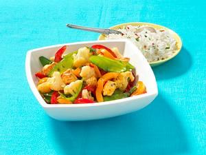 Sommer-Wokgemüse mit Hähnchen Rezept