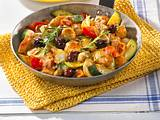 Sommerliche Gemüse-Puten-Pfanne Rezept