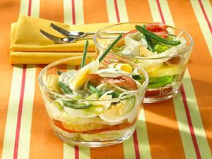 Sommerlicher Schichtsalat Rezept