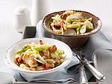 Spätzle-Salat mit Speck und Pilzen Rezept