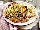 Spaghetti aglio e olio mit Steinpilzen Rezept