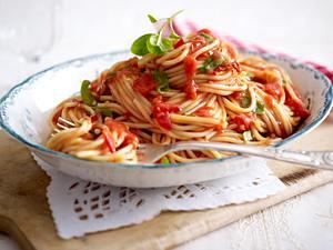 Spaghetti all´arrabiata Rezept