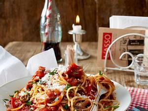 Spaghetti alla arrabiata mit Wodka Rezept