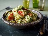 Spaghetti mit Avocado-Feta-Creme und Chili-Garnelen Rezept
