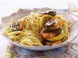 Spaghetti mit Bärlauch-Garnelen Rezept