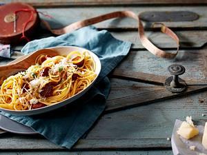 Spaghetti mit Chorizo-Carbonara Rezept