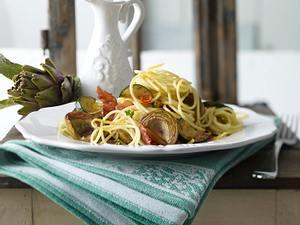 Spaghetti mit frischen Artischocken Rezept