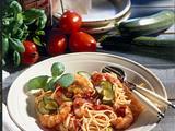 Spaghetti mit Garnelen und Tomatensoße Rezept