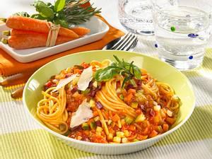 Spaghetti mit Gemüse-Bolognese Rezept