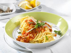 Spaghetti mit Gemüsebolognese Rezept