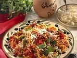 Spaghetti mit Hack-Oliven-Soße Rezept