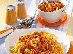 Spaghetti mit Hackfleischsoße Rezept