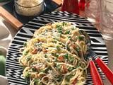 Spaghetti mit Knoblauchsahne Rezept